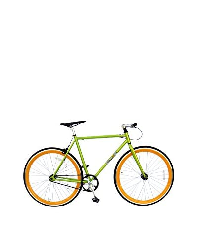 Galaxie Fixed Gear Bike, Green/Orange, 54cm