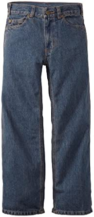 Carhartt Big Boys' Washed Denim 5 Pocket Pant, Dark Blue, 16