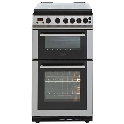 Belling FS50GDOLM 500mm Double Gas Cooker 4 x Burner Gas Hob S\/S