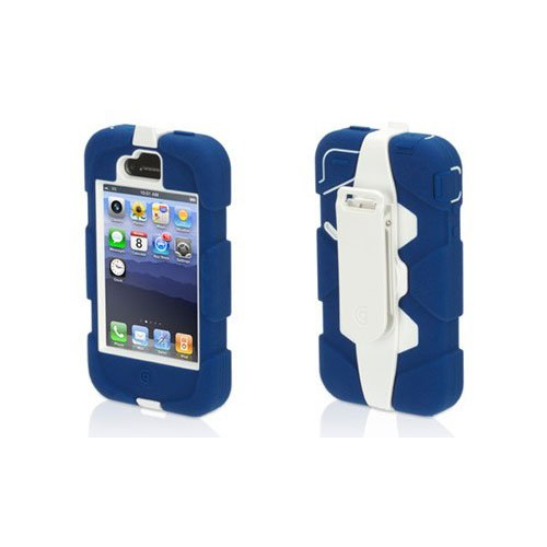 Griffin Survivor Extreme Duty Tough Case For iPhone 4/4S - White/Blue