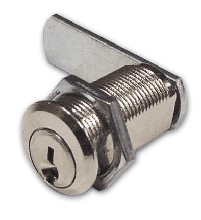 Serratura a Cilindro per Antina Nichelata Meroni Art 216 Misura 20 mm Ø 16 mm