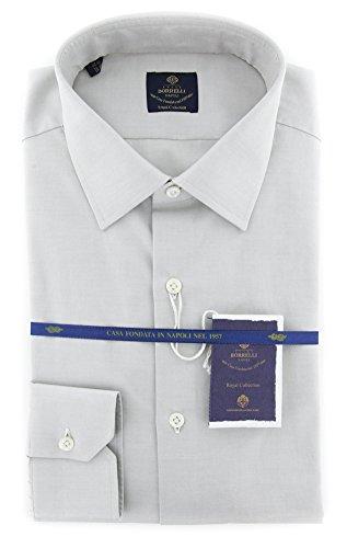 new-luigi-borrelli-light-gray-solid-extra-slim-shirt