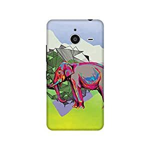 The Racoon Grip Elephant Dimensions hard plastic printed back case / cover for Microsoft Lumia 640 XL