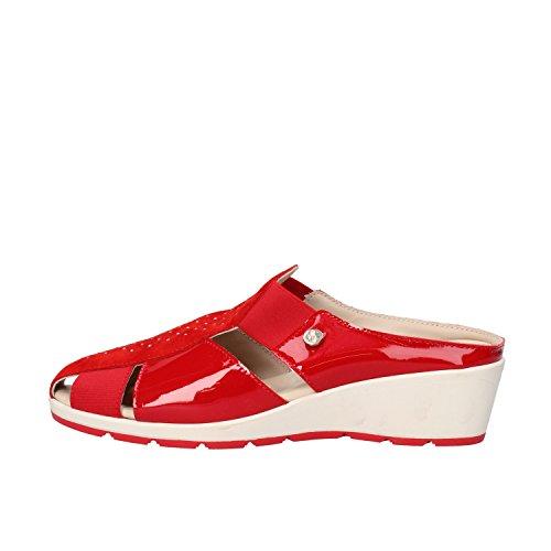 SUSIMODA sandali donna 37 EU rosso camoscio vernice AG963