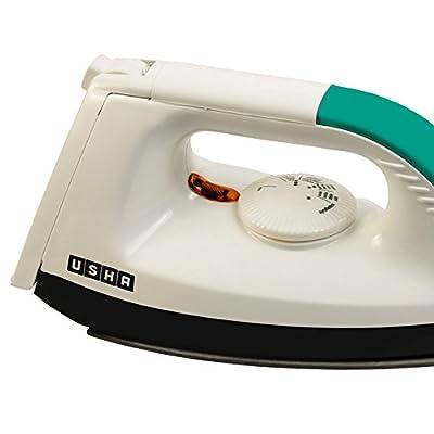 Usha Electric EI-1602 1000-Watt Dry Iron - White (Panel color may vary)