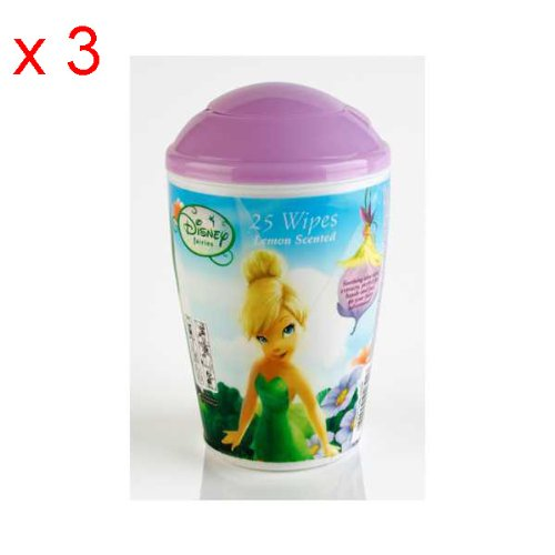 Disney Fairies Childrens Travel Wipes In Tub x 3