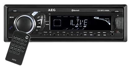 AEG AR 4025 Autoradio Lecteur CD / Slot pour carte SD Noir