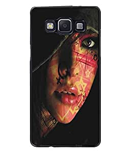 PrintDhaba Cute Face D-5445 Back Case Cover for SAMSUNG GALAXY A5 (Multi-Coloured)