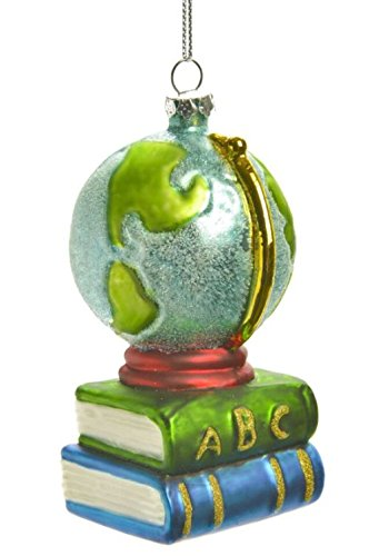 Books & Globe Education Themed Christmas Ornament
