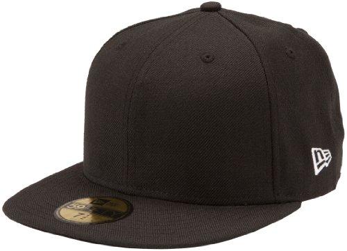 New Era Original Basic Black 59Fifty Hat, Black, 7 3/8