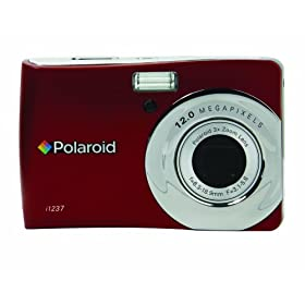 Polaroid CIA-1237RC 12MP CCD Digital Camera with 2.7-Inch LCD Display (Red)