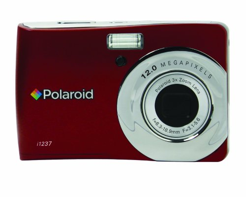 Polaroid CIM-1237R 12 MP Digital Camera with 3x Optical Zoom, Red
