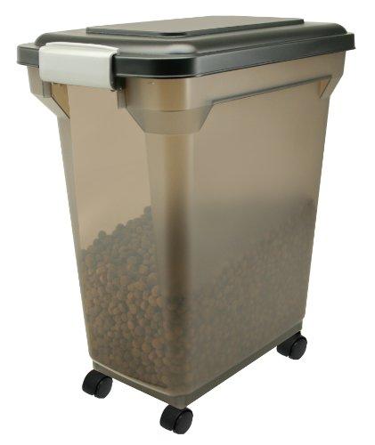 IRIS Premium Airtight Pet Food Storage, 28-Quart, Black