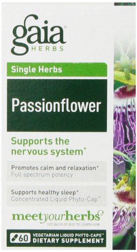 Gaia Herbs Passion Flower Liquid Phyto-Capsules, 60 Count