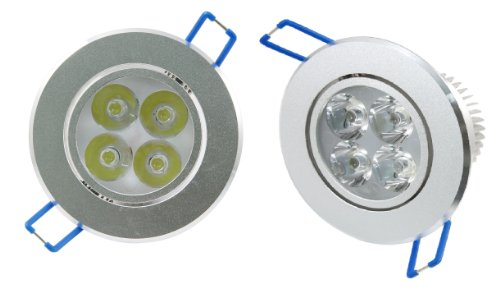 Lemonbest® Set Of 10 12W Led Ceiling Downlight Cold White 100-245Vac,Great For Indoor Illumination