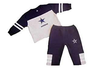 Dallas Cowboys 12 Months Sweatsuit Sweatshirt and Pants 12 M by Dallas Cowboys Authentic Apparel