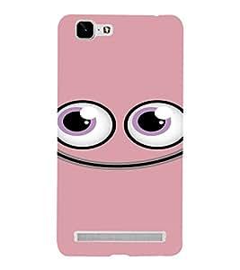 PrintVisa Cute Cartoon Pink Smiley 3D Hard Polycarbonate Designer Back Case Cover for VivoX5MAX