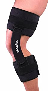 Mueller Hinge 2100 Knee Brace, One Size Fits Most, Black, 1-Count Box