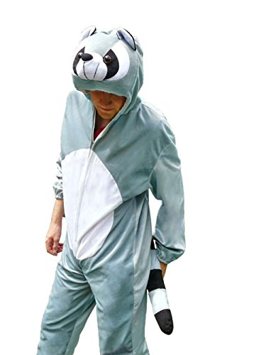 [Fantasy World Adults Racoon Costume 12-14 / L J21] (Sweet Raccoon Girls Costumes)