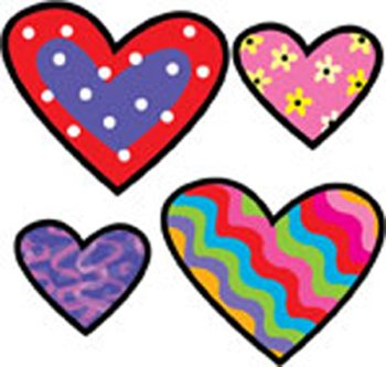 20 Pack CREATIVE TEACHING PRESS HEARTS POPPIN PATTERNS STICKERS
