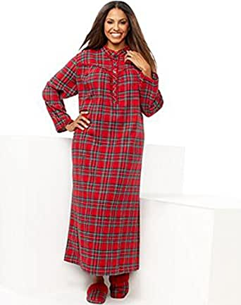 Charter club women plus size holiday lane flannel for Womens christmas flannel shirt