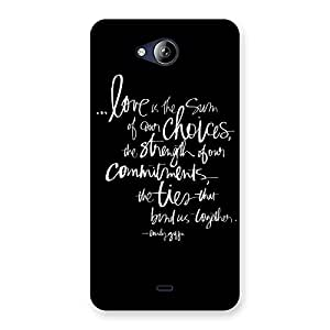 Ajay Enterprises Love Choice Type Back Case Cover for Canvas Play Q355