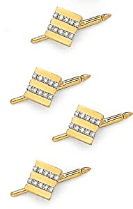 14K Yellow Gold and Diamond Shirt Stud Set - .40 ct.-88142