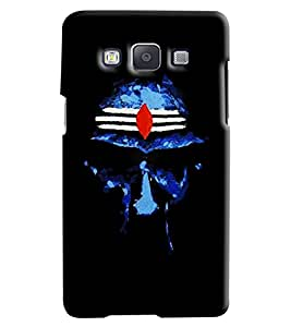 Blue Throat Om Namah Shivay Pattern Hard Plastic Printed Back Cover/Case For Samsung Galaxy A5