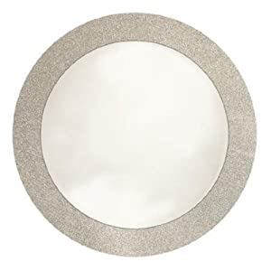 Creative Converting Glitz Silver Round Placemats with 2