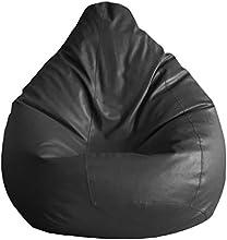 Fab Homez Bean Bag Cover (Black, XXXL)