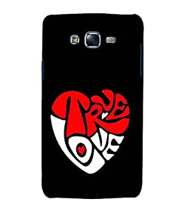 printtech True Love Heart Quotes Back Case Cover for Samsung Galaxy Core Prime G360