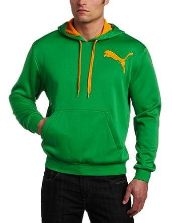 PUMA Men's Polyester Fleece Pullover Hoodie, Fern Green, XX-Large