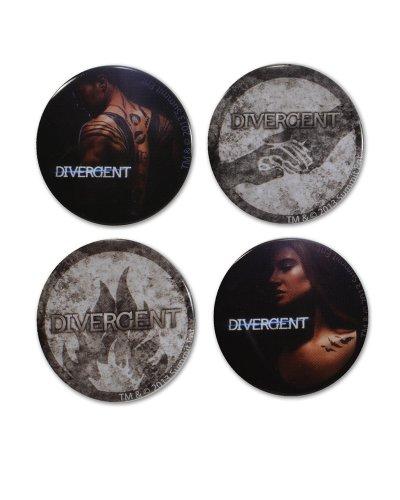 """Divergent Movie """"Divergent"""" Pin (4-Piece) - 1"""