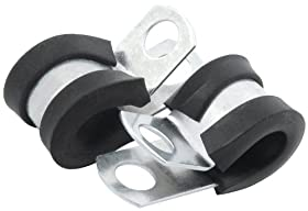 "Allstar Performance ALL18301 1/4""Rubber Cushioned Aluminum Line Clamp, (Pack of 10)"