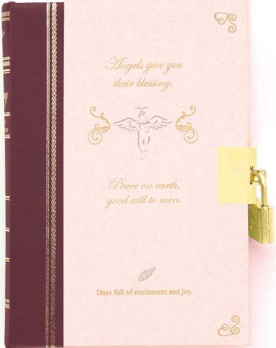 日記 鍵付 天使柄