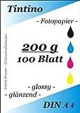 100 Blatt Fotopapier DIN A4 200g/qm high -glossy glaenzend -...