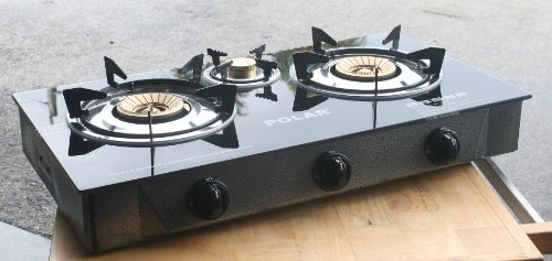 Why Choose Deluxe 3 Burner Propane Gas Stove Tempered Glass Cooktop Range