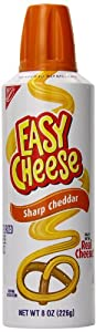 Easy Cheese, Sharp Cheddar, 8 Ounce Can (Pack of 12)
