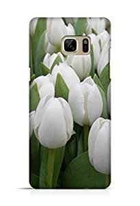 Cover Affair Flowers Printed Back Cover Case for Samsung Galaxy Note 7