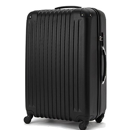 (ファーストドア) 1STDOOR 超軽量スーツケース TSAロック付 (Sサイズ(34L), ブラック)