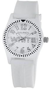 Haurex Italy PW331DW1 - Reloj para niños de cuarzo, correa de goma color blanco