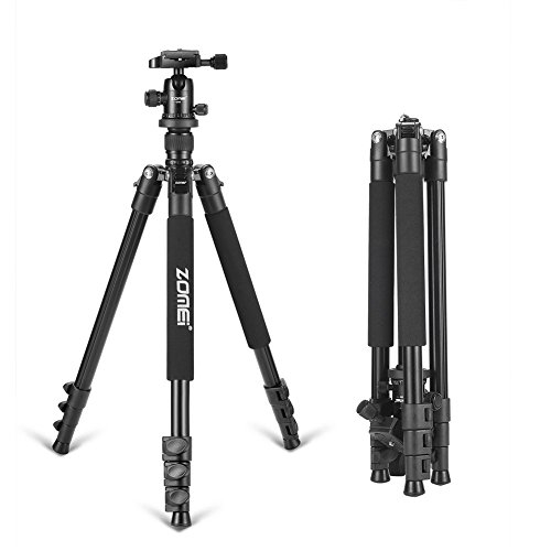 Zomei Lightweight Alluminum Alloy Camera Tripod with 360 Degree Ball Head + 1/4 Quick Release Plate For Canon Nikon Sony Samsung Panasonic Olympus Fuji DSLR And Camcorders