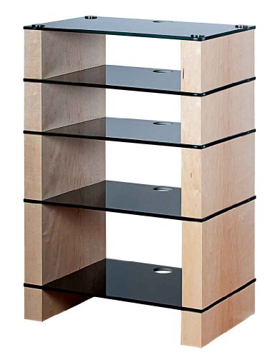 Cheap BLOK STAX DeLuxe 500 Five Shelf Maple Hifi Audio Stand & AV TV Furniture Rack Unit (B008AHJ7WM)