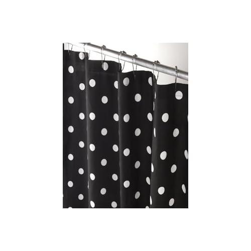 black and white polka dot shower curtain. Black Bedroom Furniture Sets. Home Design Ideas