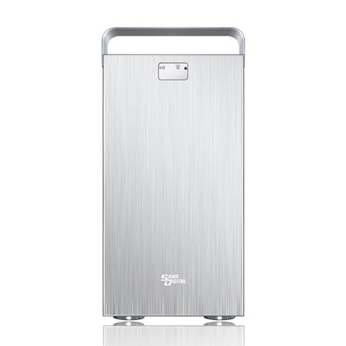Sans Digital MobileSTOR MS8X+ - 8 Bay SAS/SATA Mini-SAS 2 to SAS/SATA JBOD Storage Enclosure - Silver (ST-SAN-MS8X+) (Sans Digital 8 Bay compare prices)