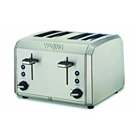 Waring Pro WT400 Professional 4 Slice Toaster, Brushed Stainless Steel