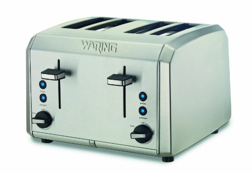 Waring Wt400 Professional 4-Slice Toaster, Brushed Stainless Steel