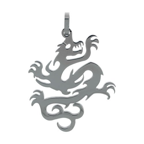 Inox Jewelry Pendants 316L Stainless Steel Dragons (Pendant Only)