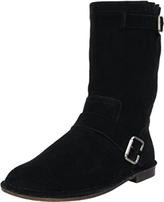 Hush Puppies Women's Knox Boot,Black Suede,5.5 M US