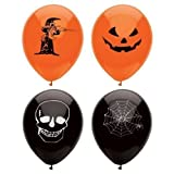 Image of 15 Assorted Halloween Balloons / 23cm / Halloween Trick Or Treat Scary Party Fun